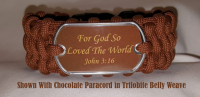 John 3:16 Paracord Bracelet