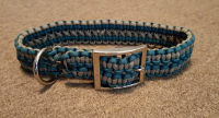 Adjustable Wide Paracord Dog Collar