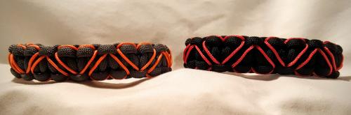 Stitched Hearts Paracord Bracelet