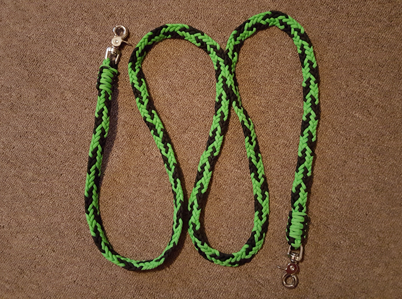 Braided Paracord Horse Reins - Eagle Cre8tions Paracord and Bullet