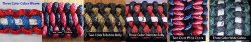 Pick Your Colors Custom Paracord Survival Bracelet