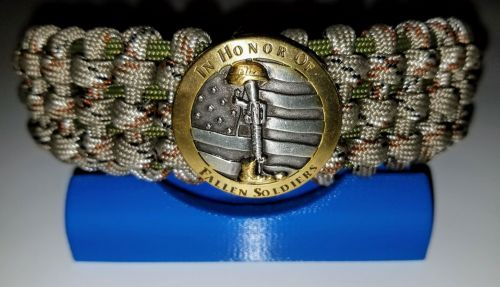 In Honor Of Fallen Soldiers - Tracks Weave Paracord Survival Bracelet