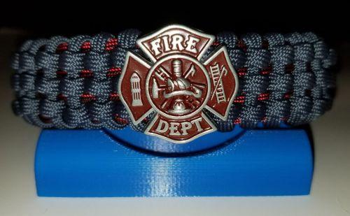 Fire Department - Tracks Weave Paracord Survival Bracelet