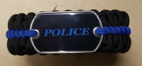 Deluxe Police Thin Blue Line Paracord Bracelet