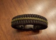 Thin Green Line Paracord Survival Bracelet Maze Stitch
