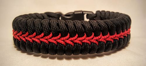 Thin Red Line Sched Paracord Survival Bracelet